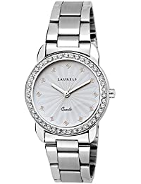 Laurels White Color Analog Women's Watch With Metal Chain: LWW-Cs-120707