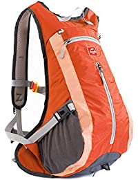 Naturehike bicicleta mochila de esquí mochila 15L resistente, ligero de viaje senderismo ciclismo Mochila, naranja