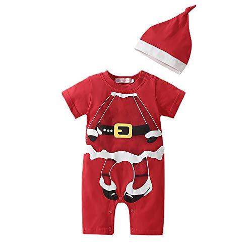 Lee Little Angel Weihnachts-kinderprinzessin Kapuzen Bow Kostüm Kleid (1 Hut, 1 Rock) (9-12 Monate, A-Rot)