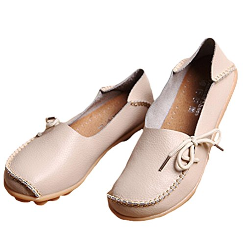 Vogstyle Moccasin Femme Casual Plat Tout-match Chaussures 33-43 Style-1 Beige