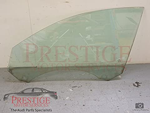 Audi A6 C6 Front NS Left Door Window Glass Single Pane
