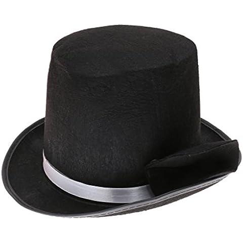 Nuevo Lincoln Altura De Terciopelo Sombrero De Copa Negro De Fieltro De Disfraces Ringmaster Victoriano