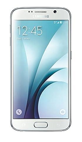 Samsung Galaxy S6 Smartphone débloqué 4G (32 Go - Ecran : 5,1 pouces - Simple SIM - Android 5.0 Lollipop) Blanc
