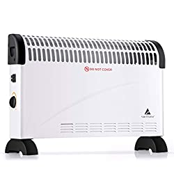 sortfield Convector Radiator Heater/Adjustable 3 Heat Settings (750/1250 / 2000 W) Electrical Convection Heating with Adjustable Thermostat