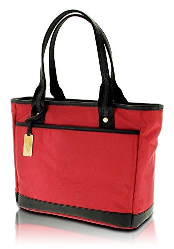 Bugatti Contratempo Damen Handtasche/Shopper mit Laptop-Fach, Rot