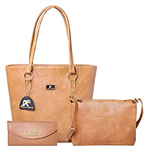 Speed X Fashion Women's Handbag With Sling Bag (Set of 3)