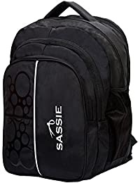 Sassie Polyester 41L Black School and Travel Backpack Bag with 4 Compartments