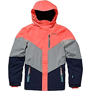O'Neill Mädchen Coral Jacket Snow, neon Tangerine pink