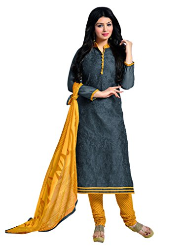 Applecreation Women's Chanderi Cotton Salwar Kameez (Green, 2MJK2005)