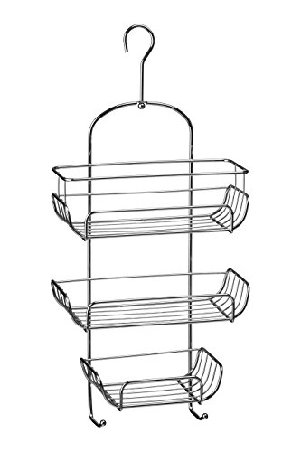 Premier Housewares 3-Tier Chrome Wire Shower Caddy (52 x 25 x 11 cm) - Silver