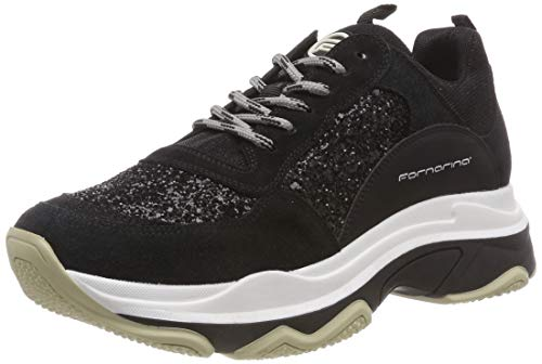 Fornarina sneaker donna, nero (super6 black), 40 eu