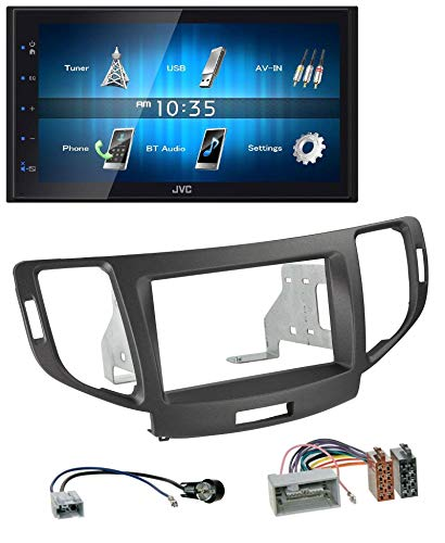 caraudio24 JVC KW-M25BT USB 2DIN Bluetooth MP3 AUX Autoradio für Honda Accord ab 11 anthrazit