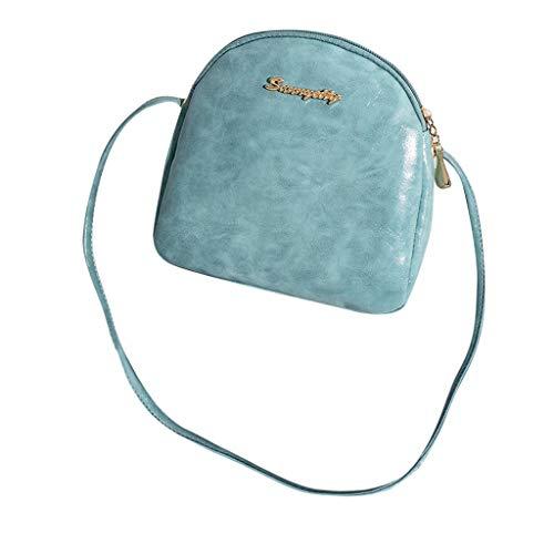 VJGOAL Damen Schultertasche, Frauen Mädchen Mode Elegant Muscheltasche Einfach Umhängetasche Münztasche(Blau,One size)