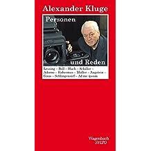 Personen und Reden: Lessing-Böll-Huch-Schiller-Adorno-Habermas-Müller-Augstein -Gaus-Schlingensief-Ad me ipsum (SALTO)