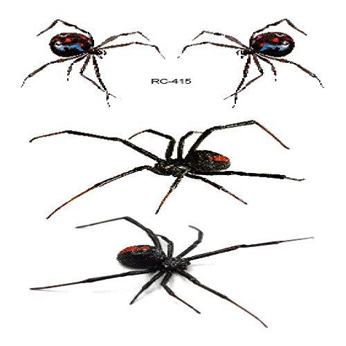 adgkitb Umweltfreundlicher wasserdichter Halloween Stereo Spider lustiger Tattoo Aufkleber RC-415 10.5x6cm