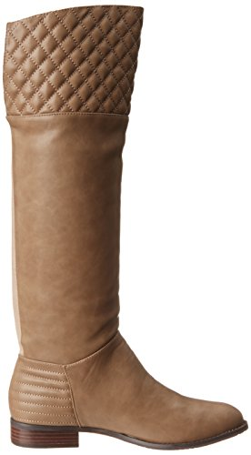 Chinese Laundry Fallout Rund Kunstleder Mode-Knie hoch Stiefel Taupe