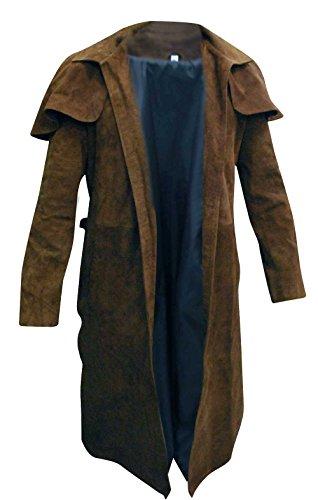 Fashion_First Herren A7 Vegas Veteran Ranger Armor Kostüm NCR Trench Leather Coat Gr. Medium, A7 Brown Coat Suede Leather (Kostüme Männer Für Las Vegas)
