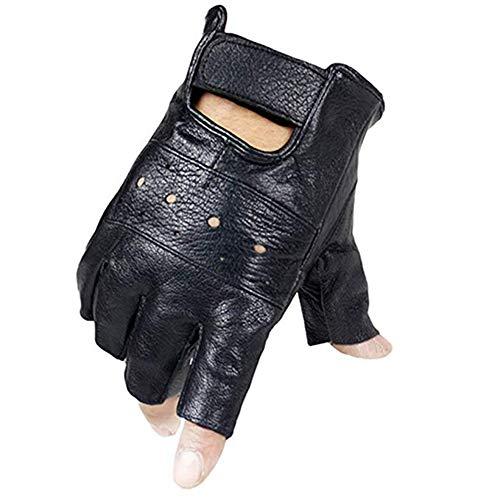 Long Keeper Fingerless Echtes Leder Radfahren Handschuhe für Männer ()