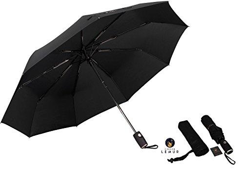 e0cd7d86b2 Ombrello pieghevole da viaggio con apertura e chiusura automatica. Ombrello  antivento nero, leggero e robusto, con aste in fibra di carbonio.