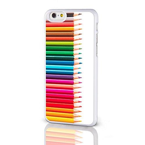 Künstler Kollektion Handy Fällen für das iPhone Serie. Aquarells Palette Farbstift Backcover Hartschale für iPhone Modelle von icasedesigner, plastik, Paint Palette on a Black Background, iPhone 6 Colouring Pencils on a White Background