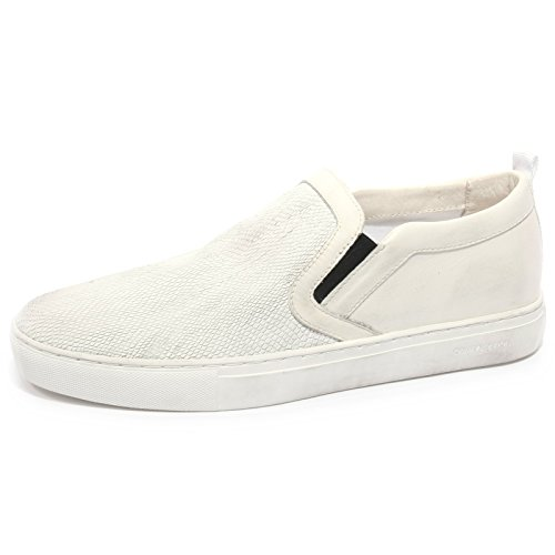 B2300 sneaker uomo CRIME LONDON scarpa bianca slip on shoe man Bianco