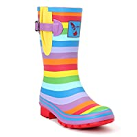 Evercreatures Rainbow Short Ladies Wellies Multi