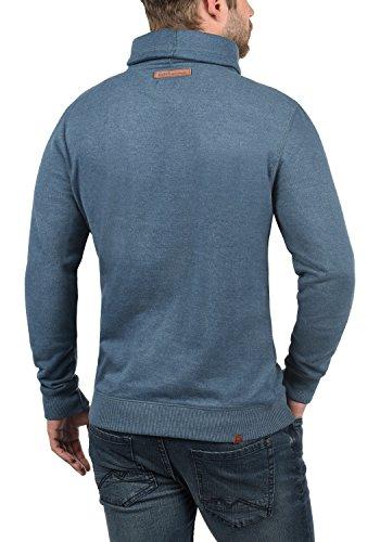 BLEND Alexandros Herren Sweatshirt Pullover Sweater Troyer aus hochwertiger Baumwollmischung Meliert Ensign Blue (70260)