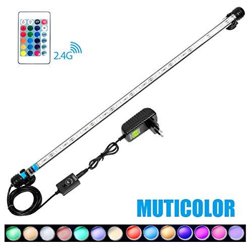 MingDak Kit de contrôle lumière LED à distance pour aquarium, lampe tube barre Cristal, adapté pour l'aquarium d'eau de mer et d'eau douce, 30 Leds, changement d'éclairage flexible, 22,5 pouces