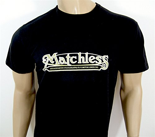 Matchless Motorcycles T-Shirt - Black in size LARGE (40 to 42