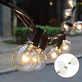 Lichterkette Glühbirne, Tomshine G40 Globe Lichterkette für Außen, 7.62M/25FT Warmweiß, Strombetrieben String Licht Lichterkette für Party...