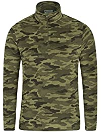 Mountain Warehouse Mens Camber Fleece - Lightweight Top, Breathable Jacket, Quick Drying, Antipill Vest, Extra Ventilation, Waterproof All Season Coat -Ideal for Walking