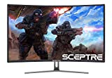 Sceptre C248B-144R 24-Inch Curved 144Hz Gaming Monitor AMD FreeSyncTM HDMI DisplayPort DVI, Metal