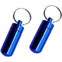 Fenteer 2pcs-Pack Aluminium Outdoor Pillendose Wasserdicht Mini Kapsel praktisch Aufbewahrungsbox Pillenbox preisvergleich bei billige-tabletten.eu