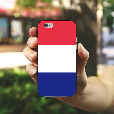Apple iPhone X Silikon Hülle Case Schutzhülle Frankreich Flagge Fußball Silikon Case schwarz / weiß