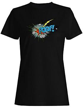 Arte divertido de la novedad de la sorpresa del diseño del poof camiseta de las mujeres ss77f
