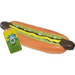 Juguete perro caliente de vinilo para mascotas, 25,5cm, de CROCI Smart