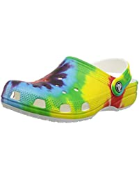 fb965588cfe615 crocs Unisex - Kids Classic Tie Dye Graphic Clog K
