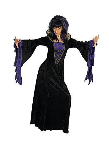 Königin der Nacht Kostüm Vampir Hexe für Damen Gr. 36 ()