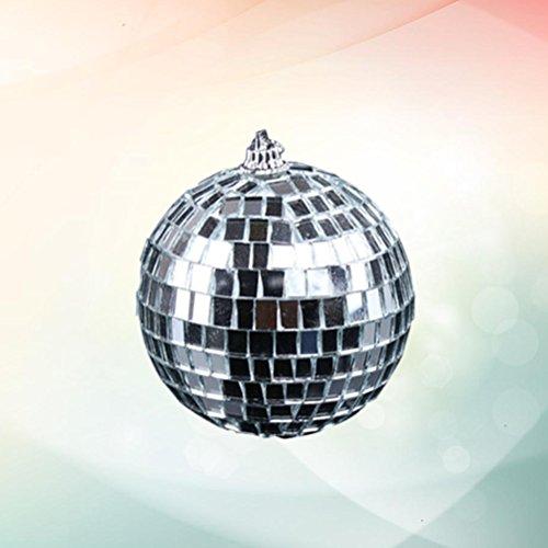 Amosfun Discokugel Spiegelkugel 20cm Mirrorball Weihnachtskugeln Ornamente Glitzer Weihnachtsdeko (Silber) -