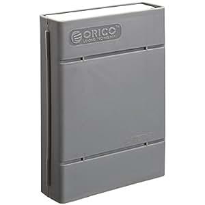 Alienwork Boîtier pour disque dur pour PC 3,5 pouces boitier externe Housse externe Anti chocs Plastique gris UB.PHP-35-GY