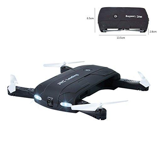 Preisvergleich Produktbild Zqmd Pocket Self-Timer Quadcopter, Falten Airscrew Portable Hubschrauber, Mini Aircraft Kopflose Fernbedienung UFO Erkundung HD Kamera Elektronische Hobby Spielzeug (Schwarz)