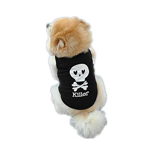 ♥ Loveso ♥-Huastier Hunde Mode Sommer Hund Haustier Schädel Gedruckt