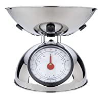 MIU France Polished Stainless Steel 8-Pound Analog Spring Scale, Silver