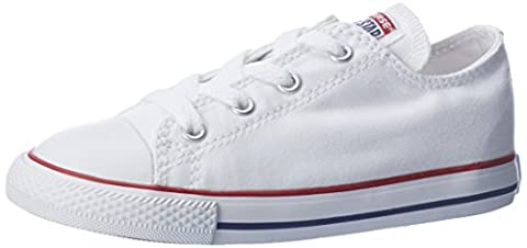 Converse Chuck Taylor All Star Core Ox, Baskets mode mixte enfant - Blanc (Blanc Optical) - 29 EU (11.5 UK)