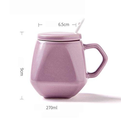 GARDEN condimento bottiglie Utensili da cucina in ceramica con il coperchio Cucchiaio Condimento Jar Stagionatura Serbatoio condimento di sale Bottiglia Reserve Box Casa (singolo) ( colore : Viola )