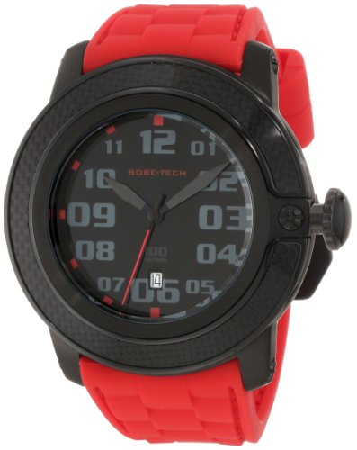 Glam Rock Men's GR33002 SoBe Black Dial Red Silicon Watch