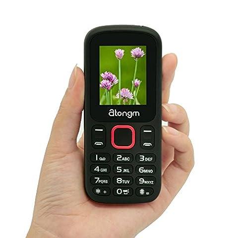 Atongm 1.77Inch TFT Unlocked Phones With Bluetooth Flashlight SIM Card
