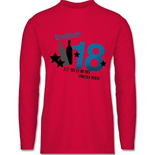Geburtstag - Endlich 18_Blau - Longsleeve / langärmeliges T-Shirt für Herren Rot
