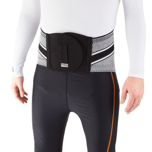 PhysioRoom Elite Knitted Snug Series Back Support- Corrects Posture, Pain Relief, Removable Moulded Injunction, Massage Effect, Improves Blood Circulation, Reduce Muscular Tension, Breathable