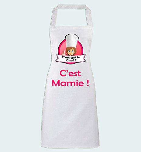 Yonacrea - Tablier de Cuisine - C'est qui le Chef? C'est Mamie!